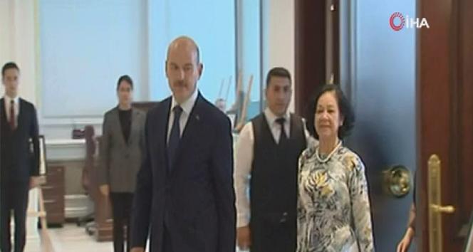 İçişleri Bakanı Soylu, Vietnam Komünist Parti Komite Sekreteri ile görüştü