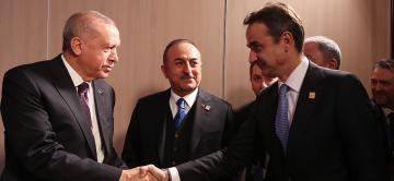 Erdoğan, Yunanistan Başbakanı Miçotakis'i kabul etti