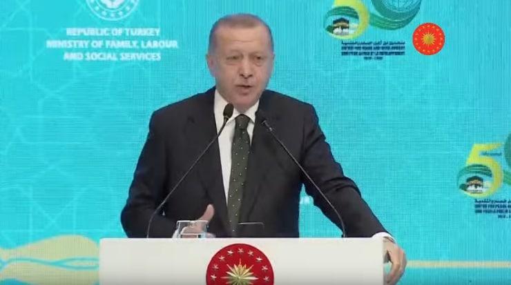"""Erdoğan, """"İsviçre'ye Göç'ün 50'nci Yıl Dönümü""""nde katılımcılara hitap etti"""