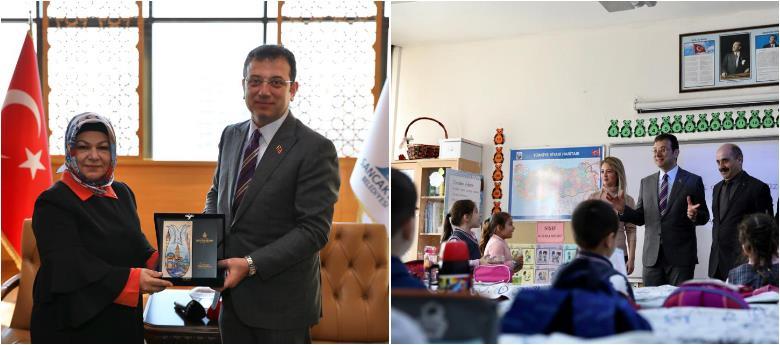 İmamoğlu, Sancaktepe Belediye Başkanı Döğücü'yü Ziyaret Etti