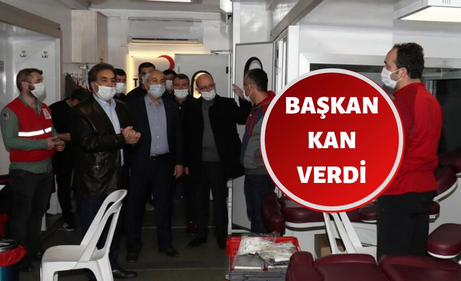 Başkan ve Kaymakam'dan Kızılay'a Destek Ziyareti
