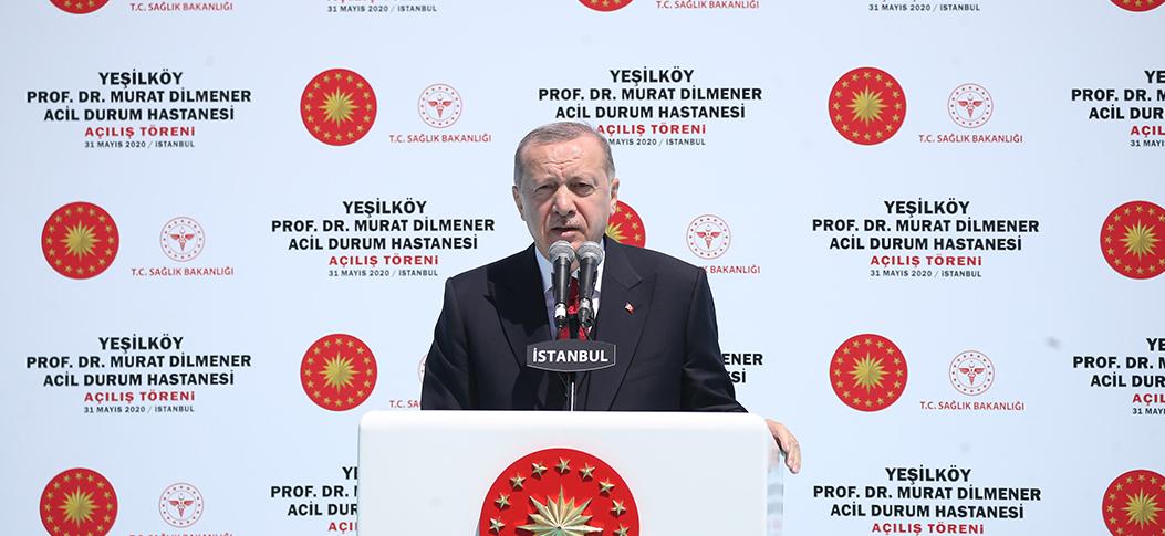 Erdoğan, Prof. Dr. Murat Dilmener Acil Durum Hastanesi açılışında konuştu