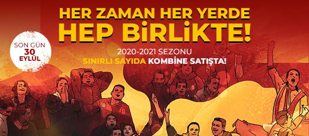 Süper Lig 2020-2021 Sezonu kombineleri satışta!