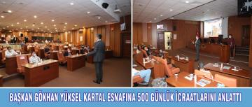 KARTAL ESNAFINA 500 GÜNLÜK İCRAATLARINI ANLATTI