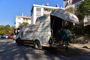 Tuzla'da Çöp Toplama Alanları Her Gün Dezenfekte Ediliyor