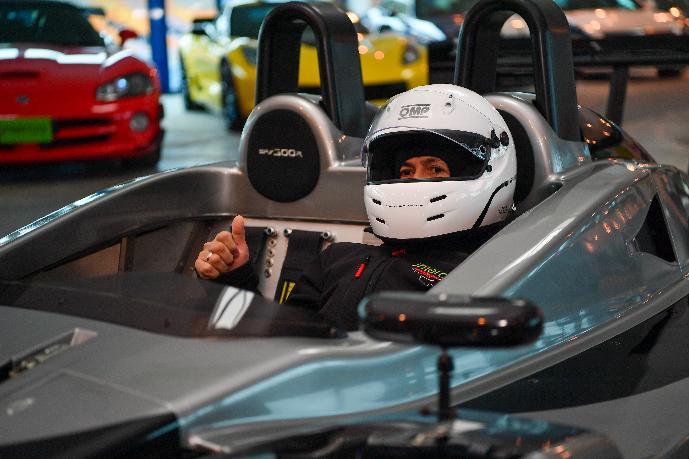 Başkan Yazıcı, Çalışmaları Yerinde İnceleyerek Formula 1 Aracına Bindi