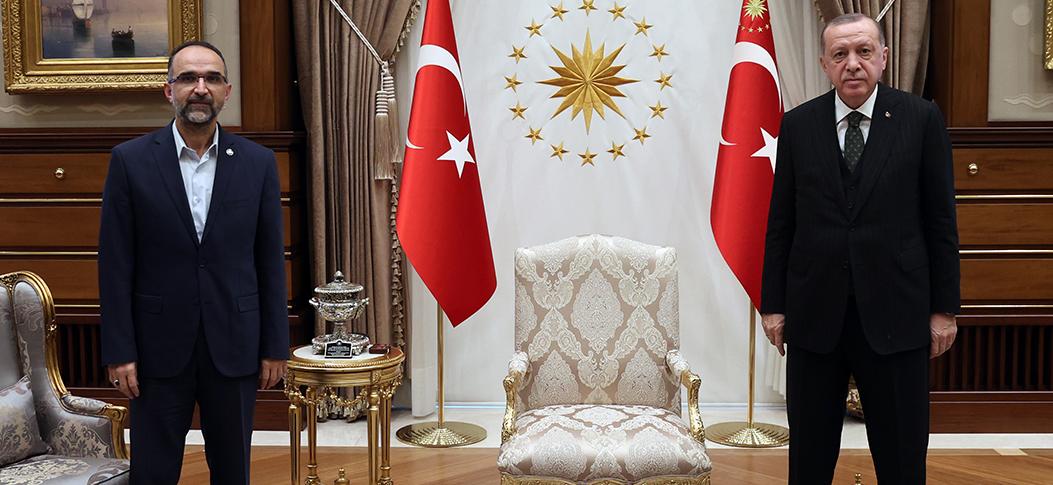 Erdoğan, HÜDAPAR Genel Başkanı İshak Sağlam'ı kabul etti