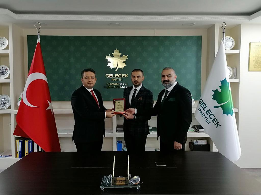 Gelecek Partisi Heyeti Sultanbeyli'de Basınla Buluştu