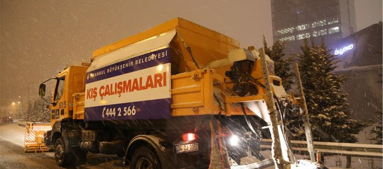 İstanbul'da Karla Mücadele