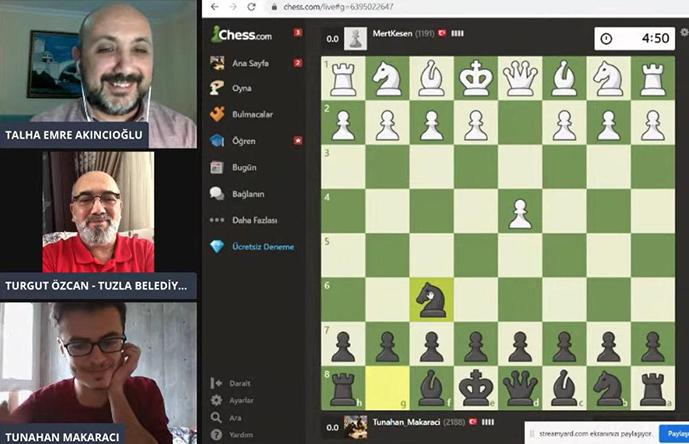 Online Satranç Turnuvası'na Yoğun İlgi