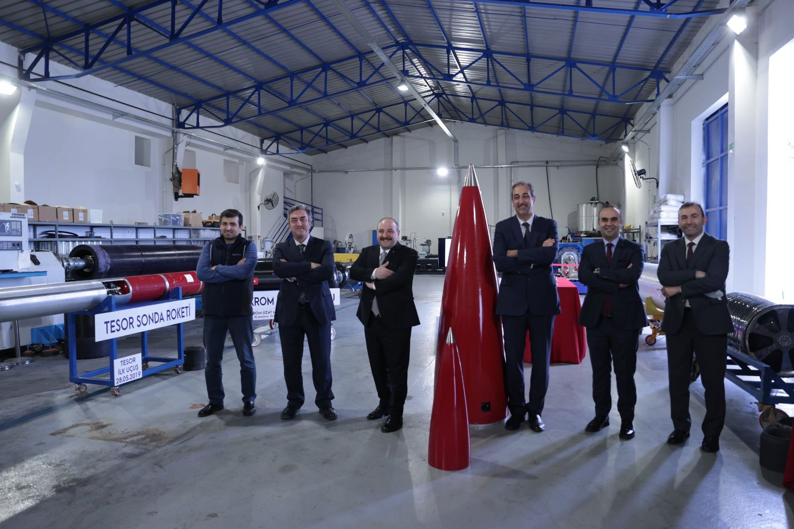 Milli ve Yerli Teknoloji Hibrit Motorlu Roket Pendik'te Üretiliyor