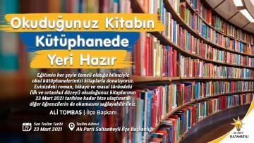 Sultanbeyli'de okuduğunuz kitabın Muş'taki yeri hazır