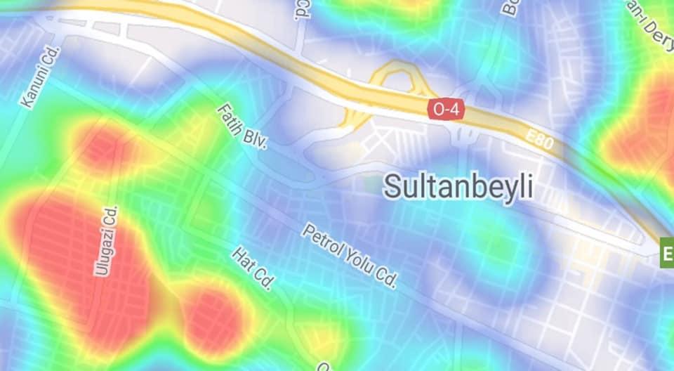 Sultanbeyli'de harita rengi değişti mi?