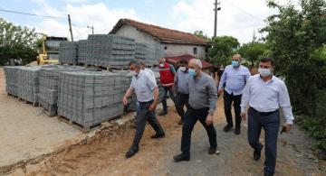Gebze'de hasar gören evlere ziyaret