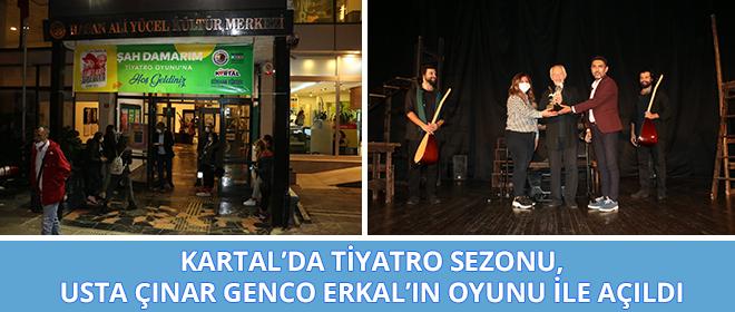 """Kartal'da Tiyatro Sezonu, Usta Çınar Genco Erkal'ın """"Şahdamarım"""" Adlı Oyunu İle Açıldı"""